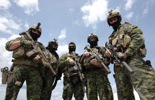 Canada JTF2 Special Forces - Annuit Cœptis - Novus Ordo Seclorum - Ordo Ad Chaos - Animos Sanctus - Libertas - De Oppresso Liber - Semper Fidelis - Semper Paratus - Source: https://www.facebook.com/photo.php?fbid=159795970773356=pb.159771947442425.-2207520000.1361004831=3