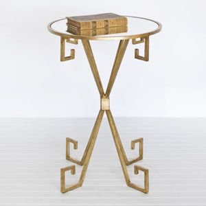 Gold Greek Key Side Table Side Table Gold Home Accessories Table