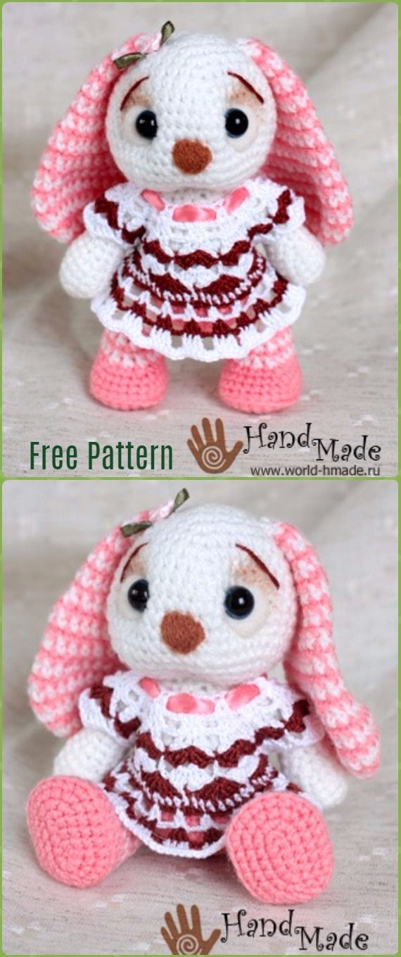 Crochet Amigurumi Bunny Toy Free Patterns Instructions Amigurumi