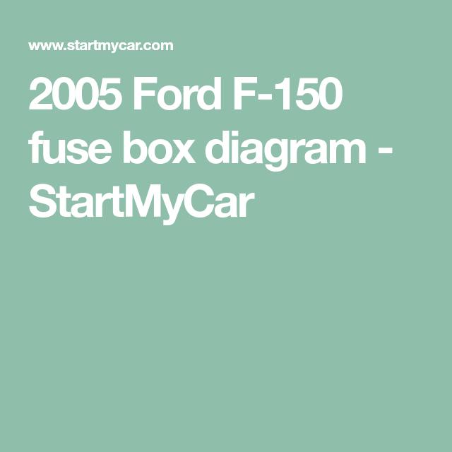 2005 Ford F-150 fuse box diagram - StartMyCar | Fuse box ...