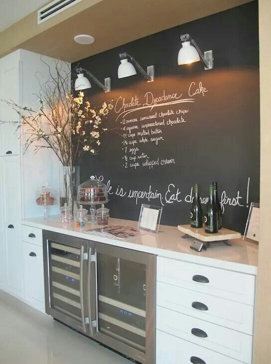 A Great Idea For A Home Kitchen  For The Home  Pinterest New Kitchen Blackboard Inspiration Design