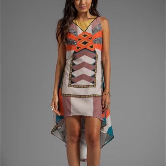 Ladakh El Salvador Dress The El Salvador Dress by Ladakh is in a wild geometric print that is sure to grab attention! High-lo hem. Ladakh Dresses High Low