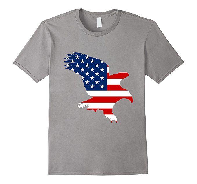 9a46c204f Amazon.com  Bald Eagle Flag 4Th Of July Tshirt  Clothing