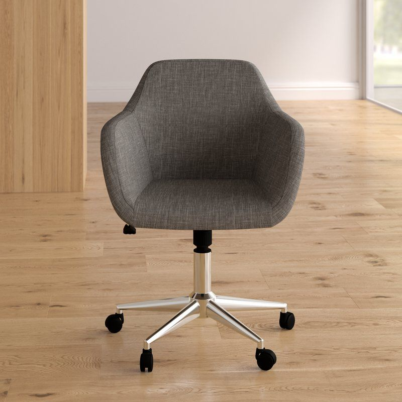 Worsley Upholstered Home Office Chair In 2020 Home Office Chairs Adjustable Office Chair Office Chair