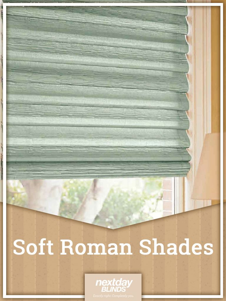 Available In Casual Flat Or Teardrop Next Day Blinds Soft Roman