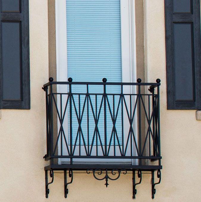 Ornamental Arch Faux Balcony | Iron balcony, Iron balcony ...