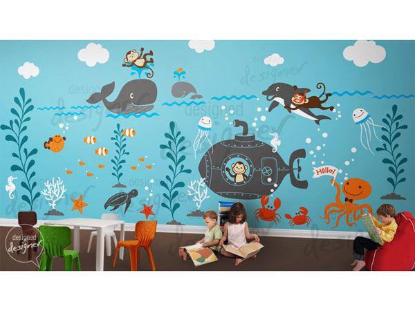 Charmant Designer Under Sea Vinyl Wall Decals