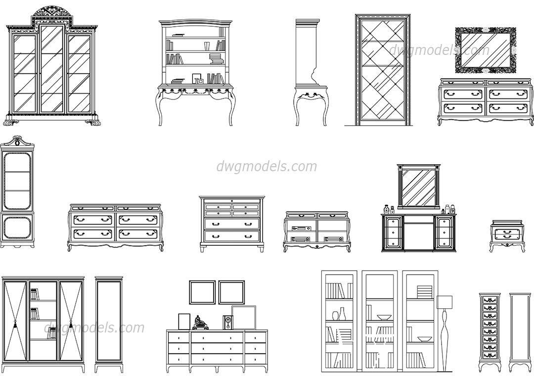 Pin On Furniture Bedroom set cad block