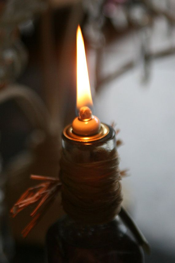 Jar Lid With Glass Wick Insert And Wick To Convert Mason