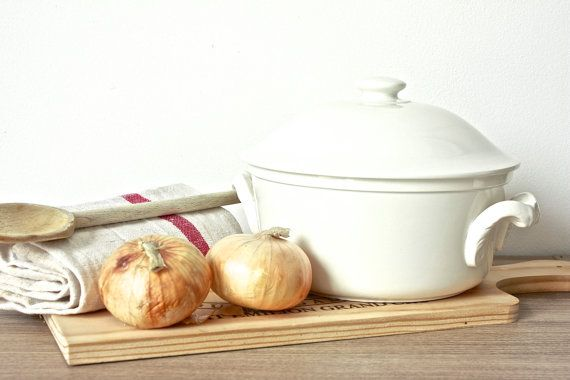 Stoneware Tureen/Serving Casserole by BeyondTheBrocante on Etsy