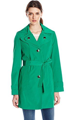b3608b02af9be Calvin Klein Women s Single Breasted Double Collar Trench Coat ...