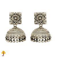 Buy Silver Square Jhumki 113je38 Online Jaipurmahal Ethnic Online