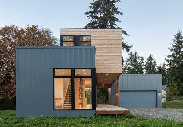 Pingl par lebas sur maison prefab modular homes affordable prefab homes et prefab cabins for Prefab maison