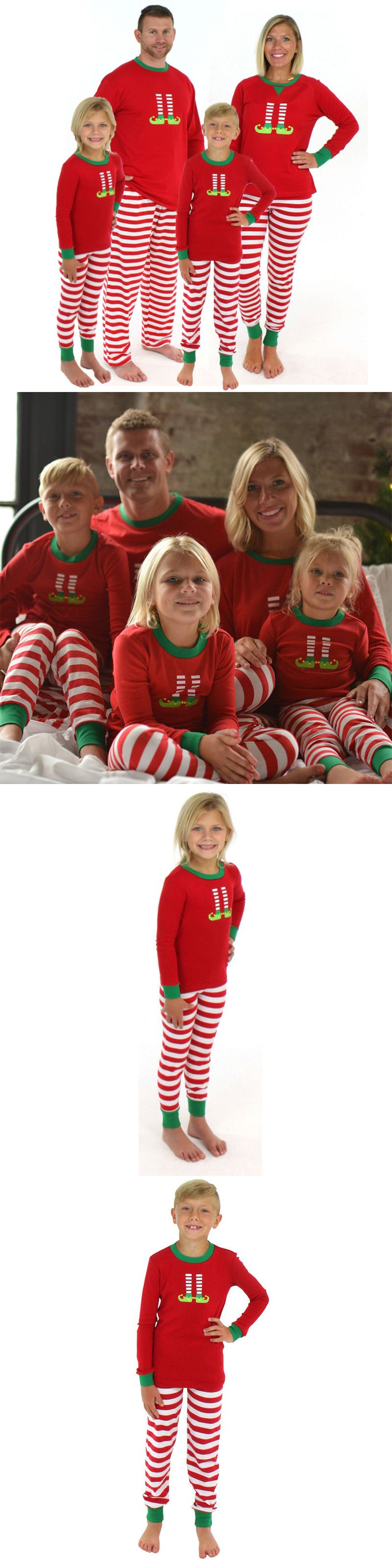 Sleepwear  Family Matching Christmas Pajamas Set Women Baby Kids Elf Sleepwear Nightwear Us Buy It Now Only   On Ebay Sleepwear Family