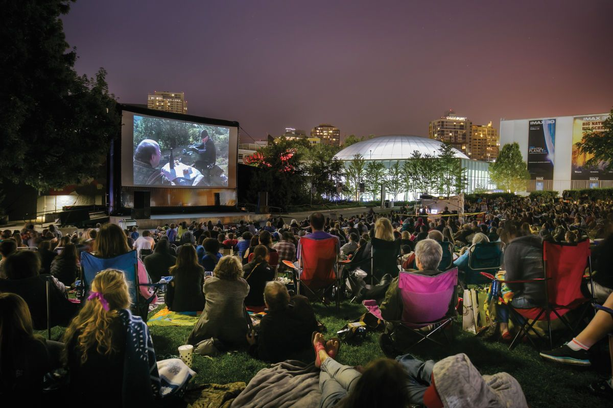 Where To Watch Cinema In The Open Air With A Little Something Extra Air Movie Movie In The Park Outdoor Movie