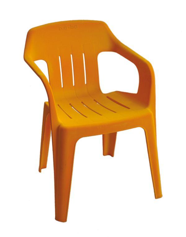 orange plastic chair. B.a-ba: Monobloc Chair Makeover By Cyrille Candas - Orange Plastic R