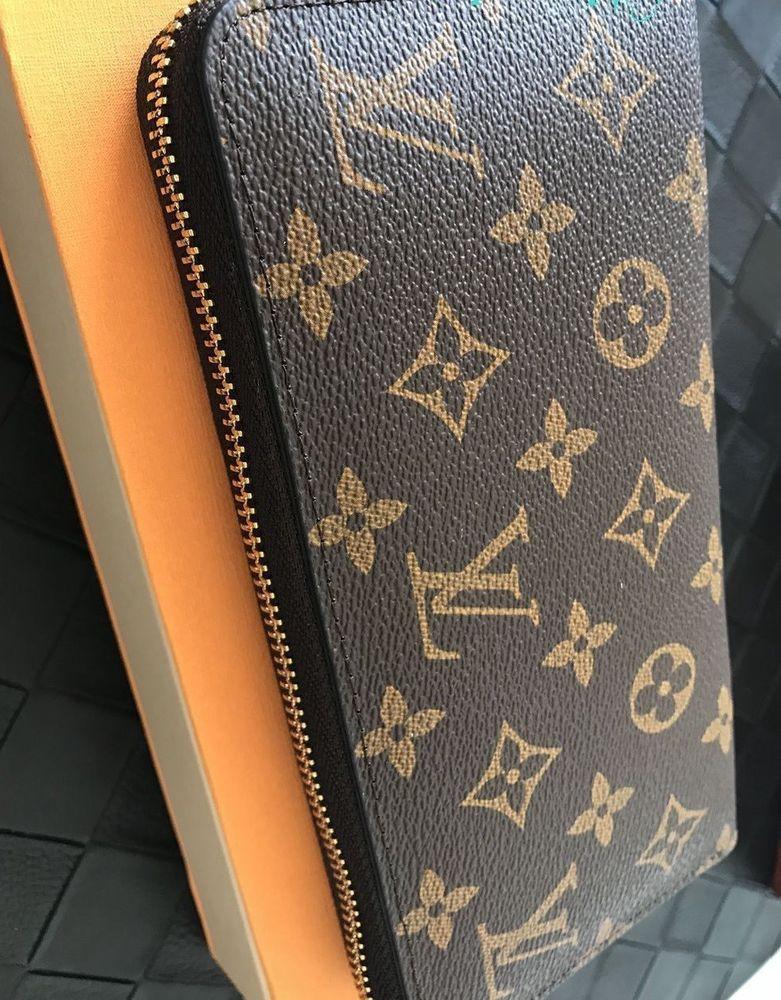 Authentic louis vuitton monogram smcanvas zippy wallet