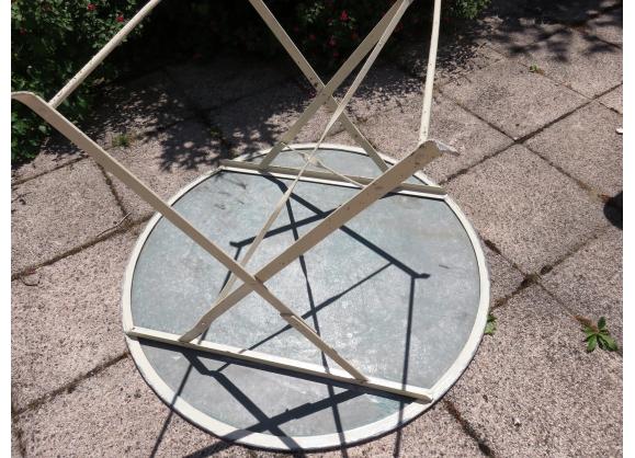 Ancienne table de jardin pliante | Table de jardin pliante ...