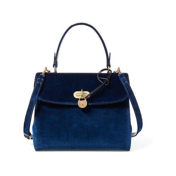 3cbd530675 Ralph Lauren Medium Velvet Tiffin Bag ( 2