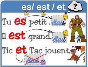 Aff est/es/et et ont /on   Apolline ecole   Maths cm1, Enseignement et L'enseignement du français