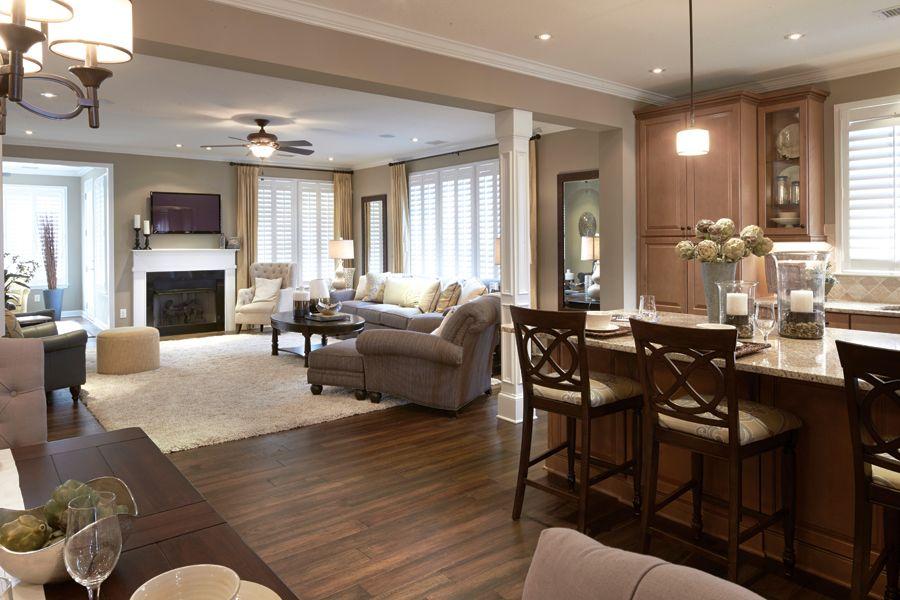 Carolinas model homes carolinas open floor plan for Carolina plan room
