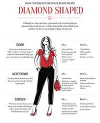 How to Dress Your Body Shape - Diamond Shape
