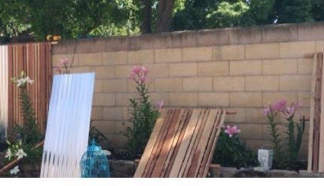 How To Make Your Cinder Block Fence Look Amazing Cinder Block Walls Cinder Block Patio Makeover