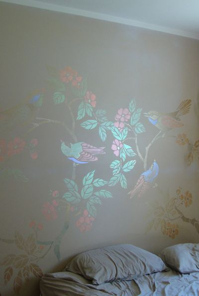 High Quality Using Iridescent Paint In Various Colors To Add A Unique Flair To A  Standard Chinoiserie Stencil