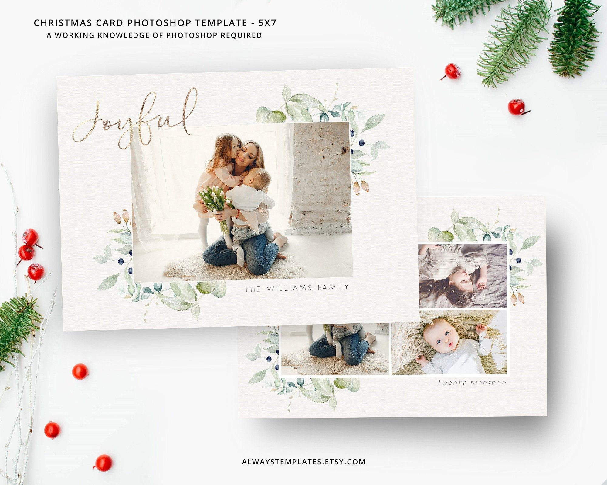Photo Christmas Card Template Christmas Card Template Etsy Photoshop Christmas Card Template Christmas Photo Card Template Holiday Card Template
