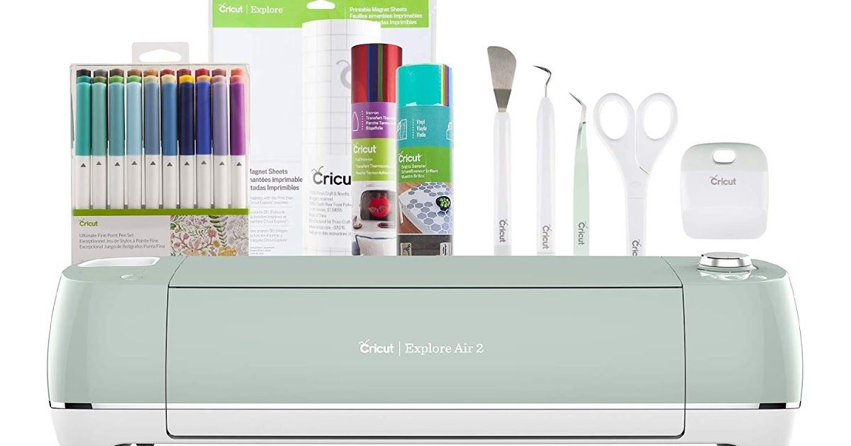 Highly Rated Cricut Explore Air 2 Mint Bundle With Accessories Only 229 99 Shipped Retail 287 Dailydeals Cricut Explore Air Cricut Explore Cricut