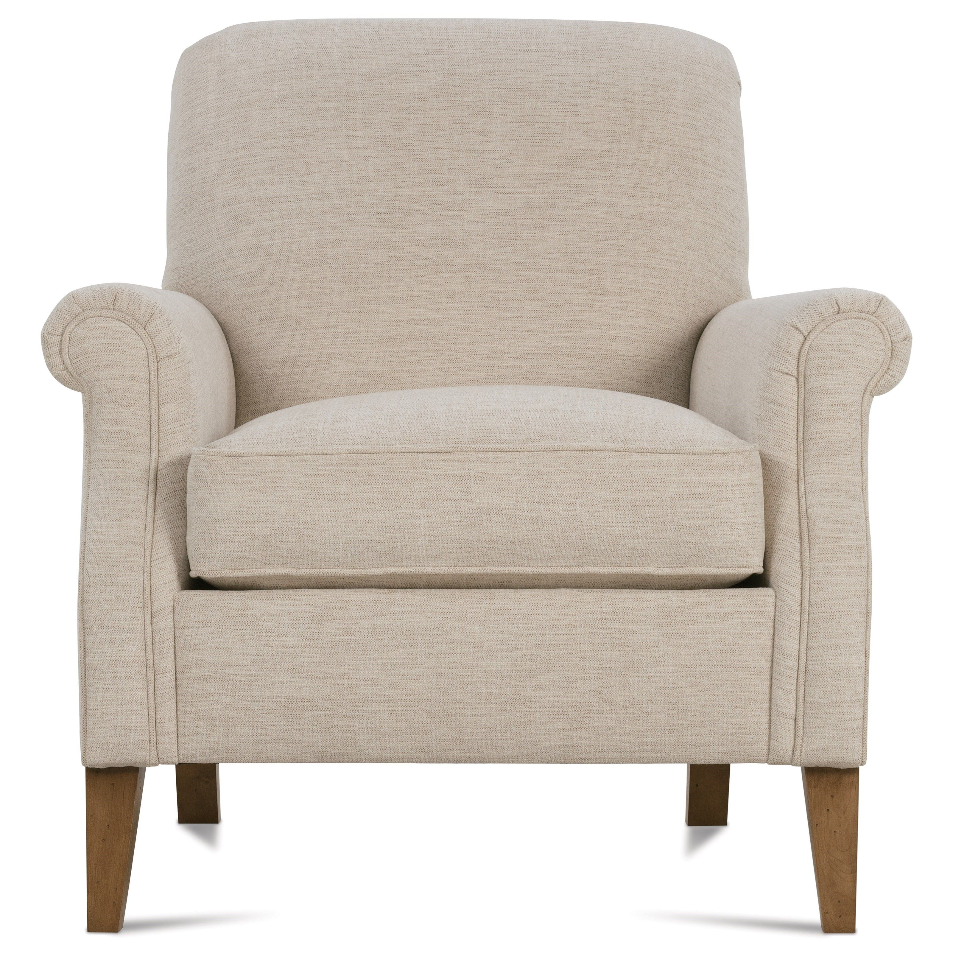 Channing Transitional Chair with Rolled Arms and Tight Seat ...