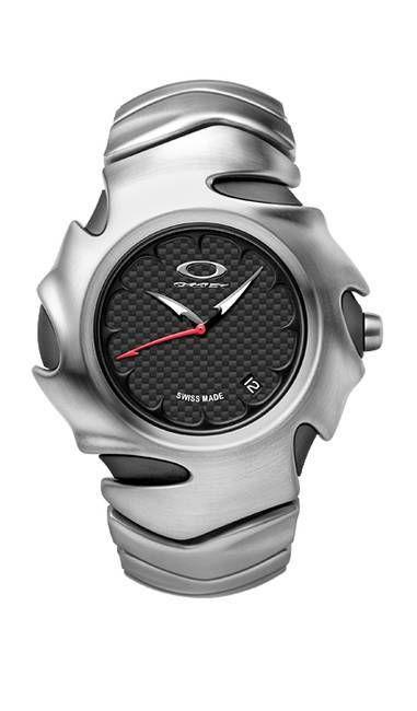 ddc860e16e9 Oakley Blade II Carbon Fiber Dial Orbital Brushed Bracelet Relógios De  Luxo