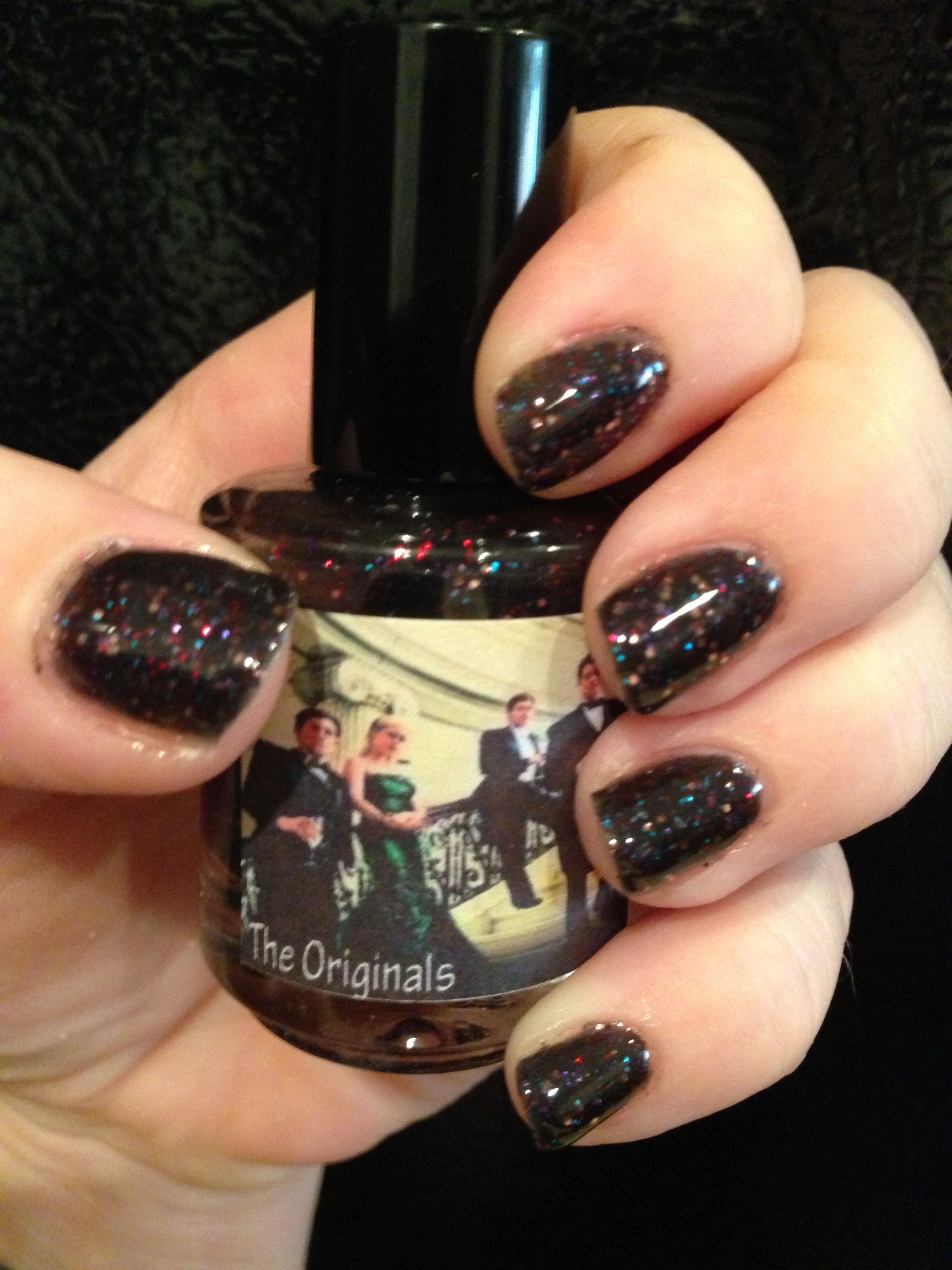 Honey buttons custom vampire diaries polish the originals my image via the vampire diaries nail art ideas image via dark red sparkle nails im not really big on red but these are cute the vampire diaries nail art prinsesfo Gallery