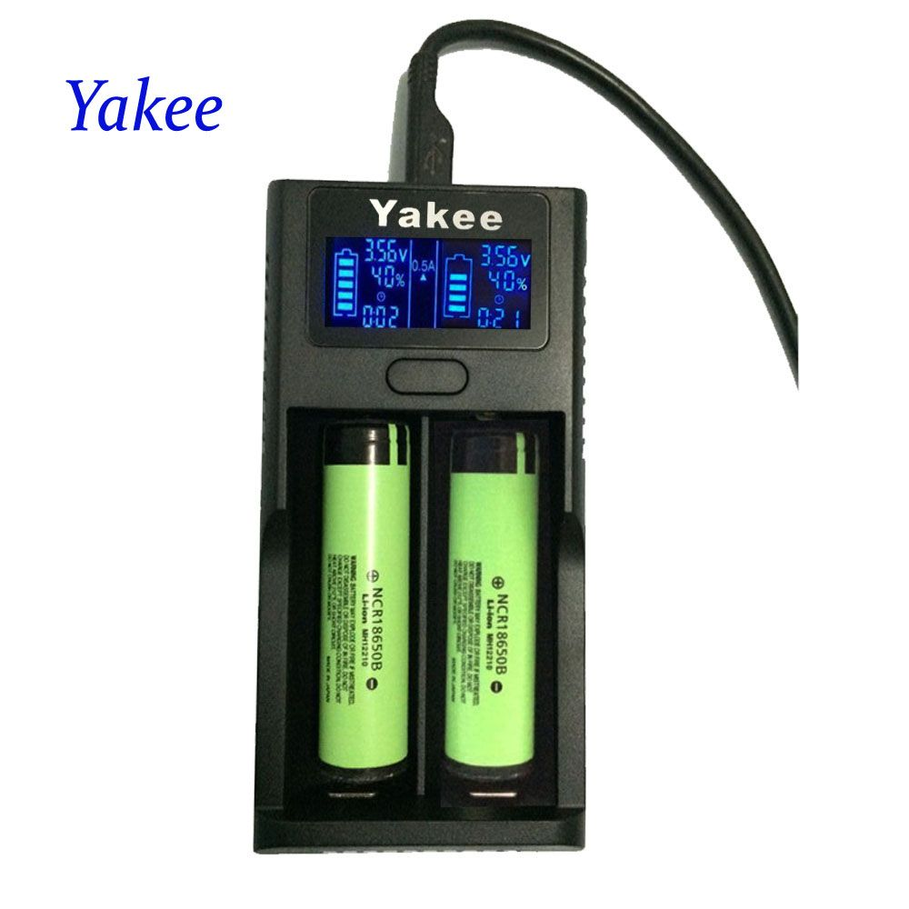 Aliexpress Yakee Smart Lcd Usb Battery Charger For Li Ion 26650 18650 18500 18350 17670 16340 14500 10440 Battery Usb Charger Lithium Battery Battery Charger