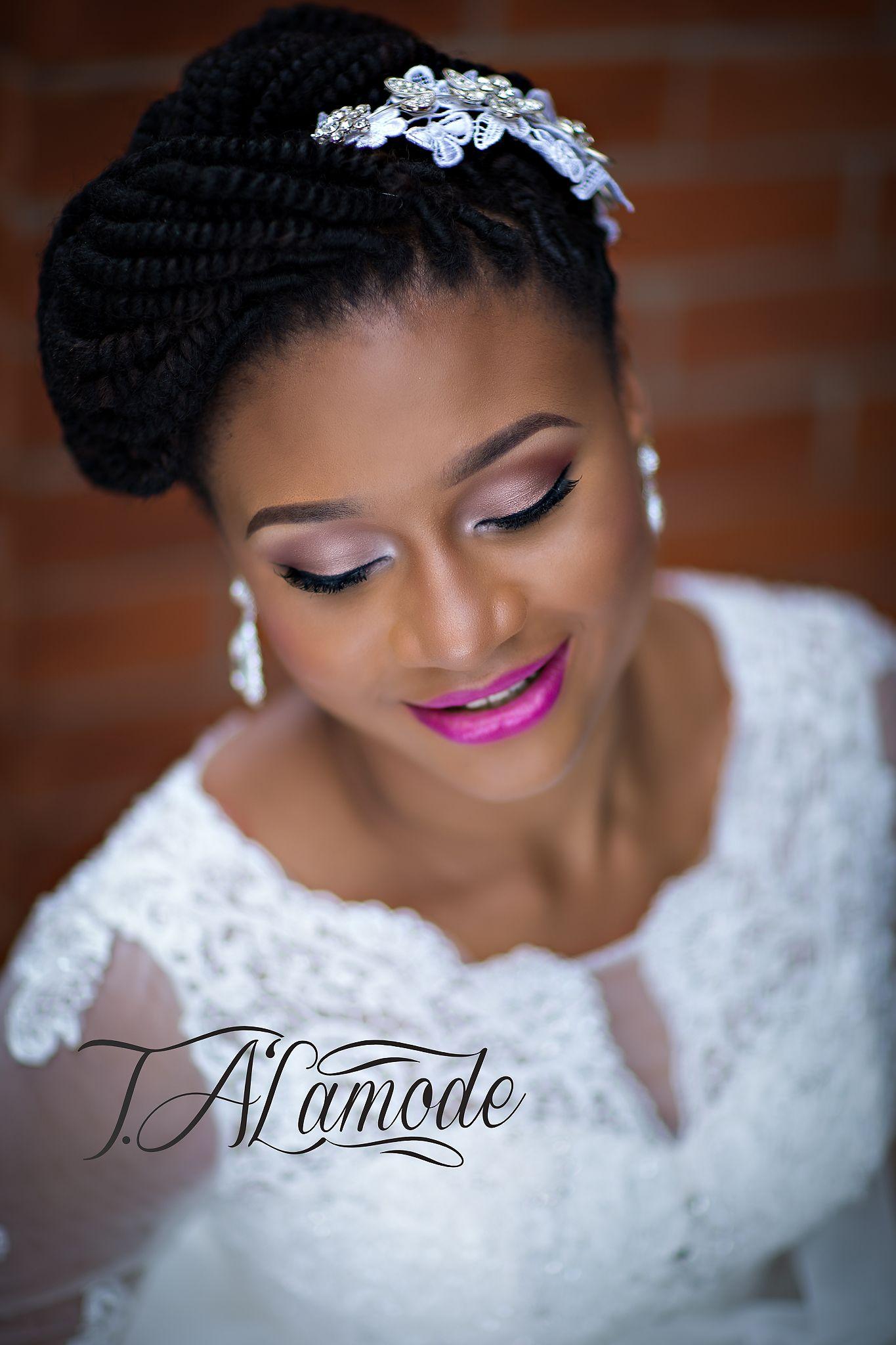 nigerian bridal natural hair and makeup shoot - black bride