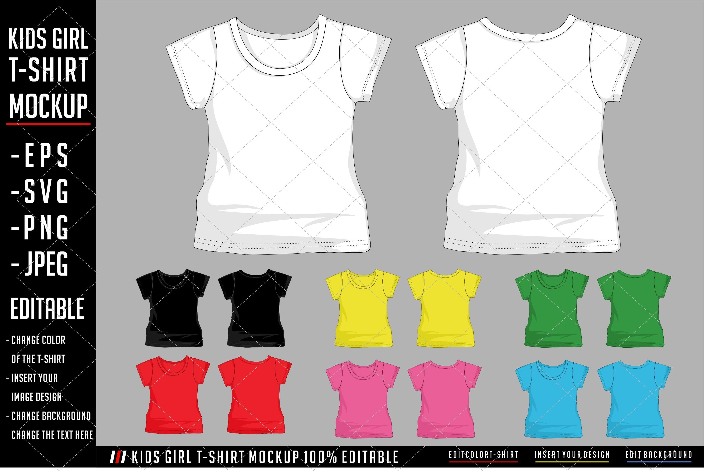 Download Kids Girl T Shirt Mockup Template 845360 Clothing Design Bundles Shirt Mockup Girls Tshirts Clothing Mockup