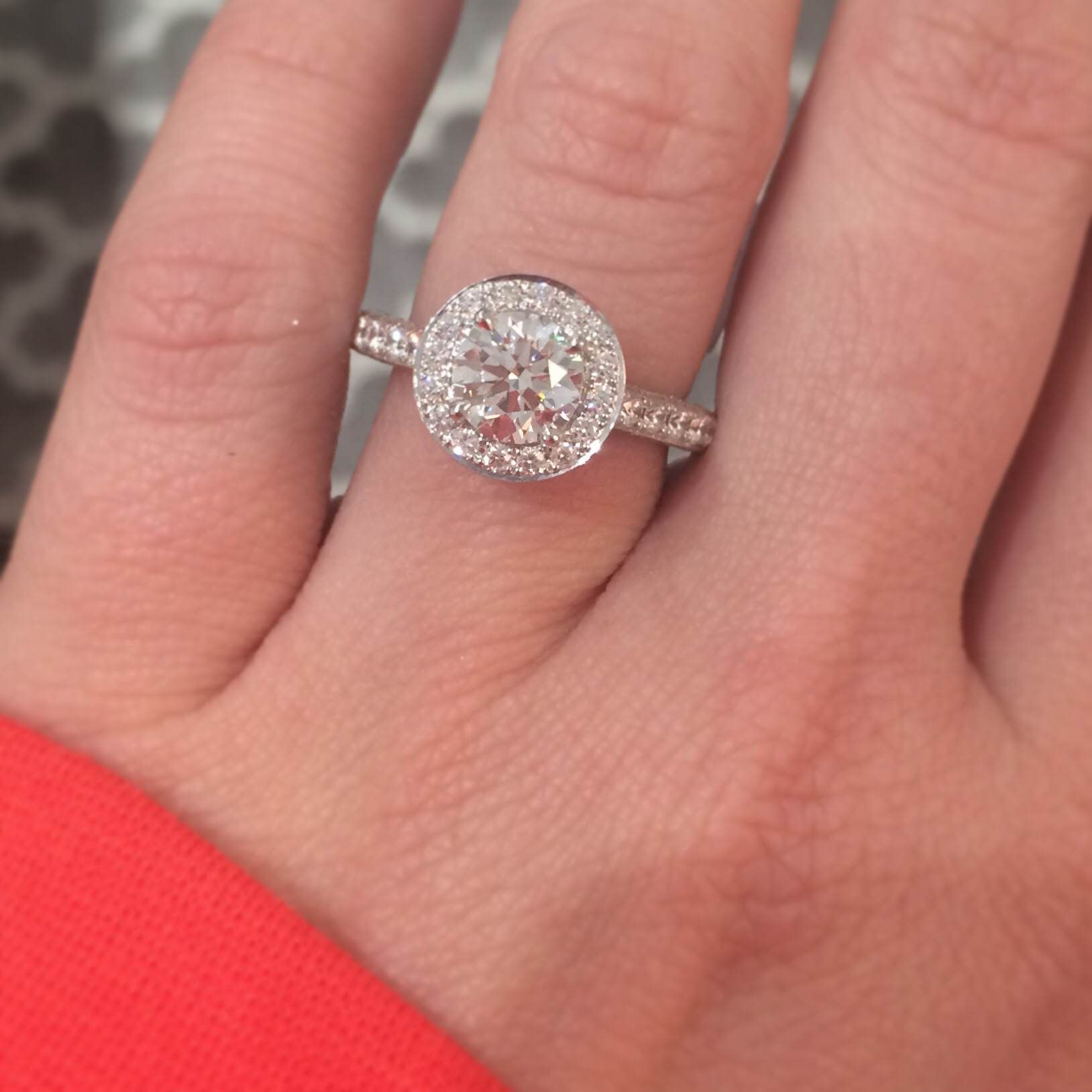 The brand new Hearts On Fire Illustrious engagement ring. 2.20 ...
