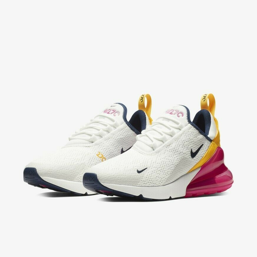 514d3599283c2 NIKE Air max 270 AH6789-106 Navy/White/Yellow/Pink New Authentic ...
