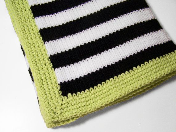 Free Shipping Modern Baby Blanket In Black And White Di Pinkyroo 53 00 Baby Blanket Crochet Modern Crochet Blanket Modern Crochet