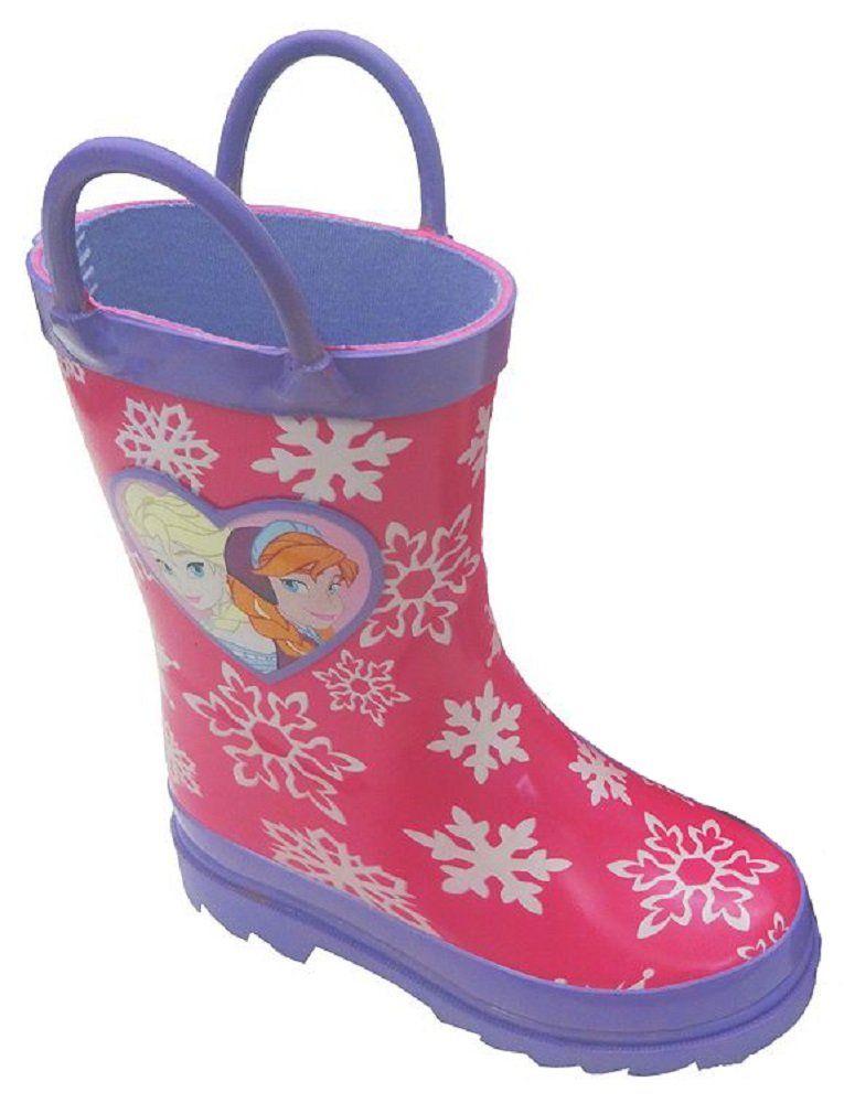 6a78d7a6b5a Disneys Girls Frozen Elsa & Anna Snowflake Rain Boots (8 M US ...