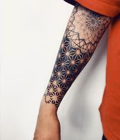 Perfect geometrical black tattoo done by artist Ponywave Perfect geometrical bl…