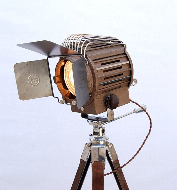 SOLD 40's Vintage Theater Stage Light Spotlight By