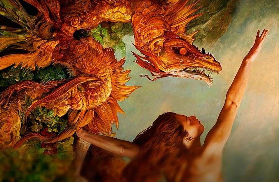 Destacado. Pintura, fantasía e ilustración de Julie Bell Leer más: http://www.colectivobicicleta.com/2015/11/pintura-de-julie-bell.html
