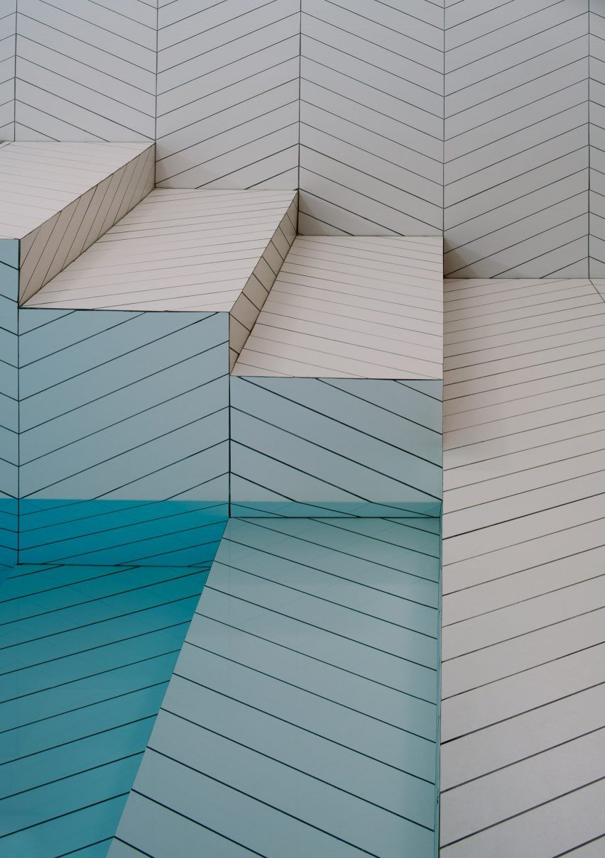 All-over chevron-patterned tiling by Claesson Koivisto Rune (Sweden ...