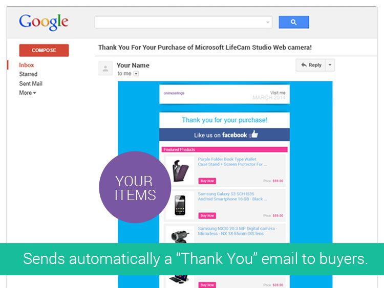 Ebay Thank You Emails Sends An Automated Thank You Email To Your