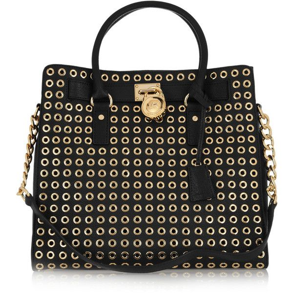 MICHAEL Michael Kors Hamilton textured-leather eyelet tote