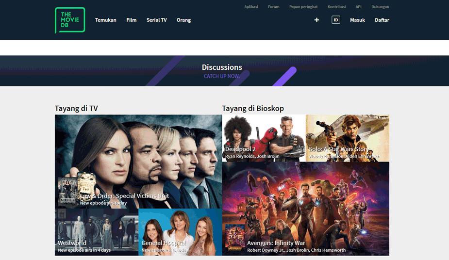 TMDb adalah situs situs web yang menyediakan informasi