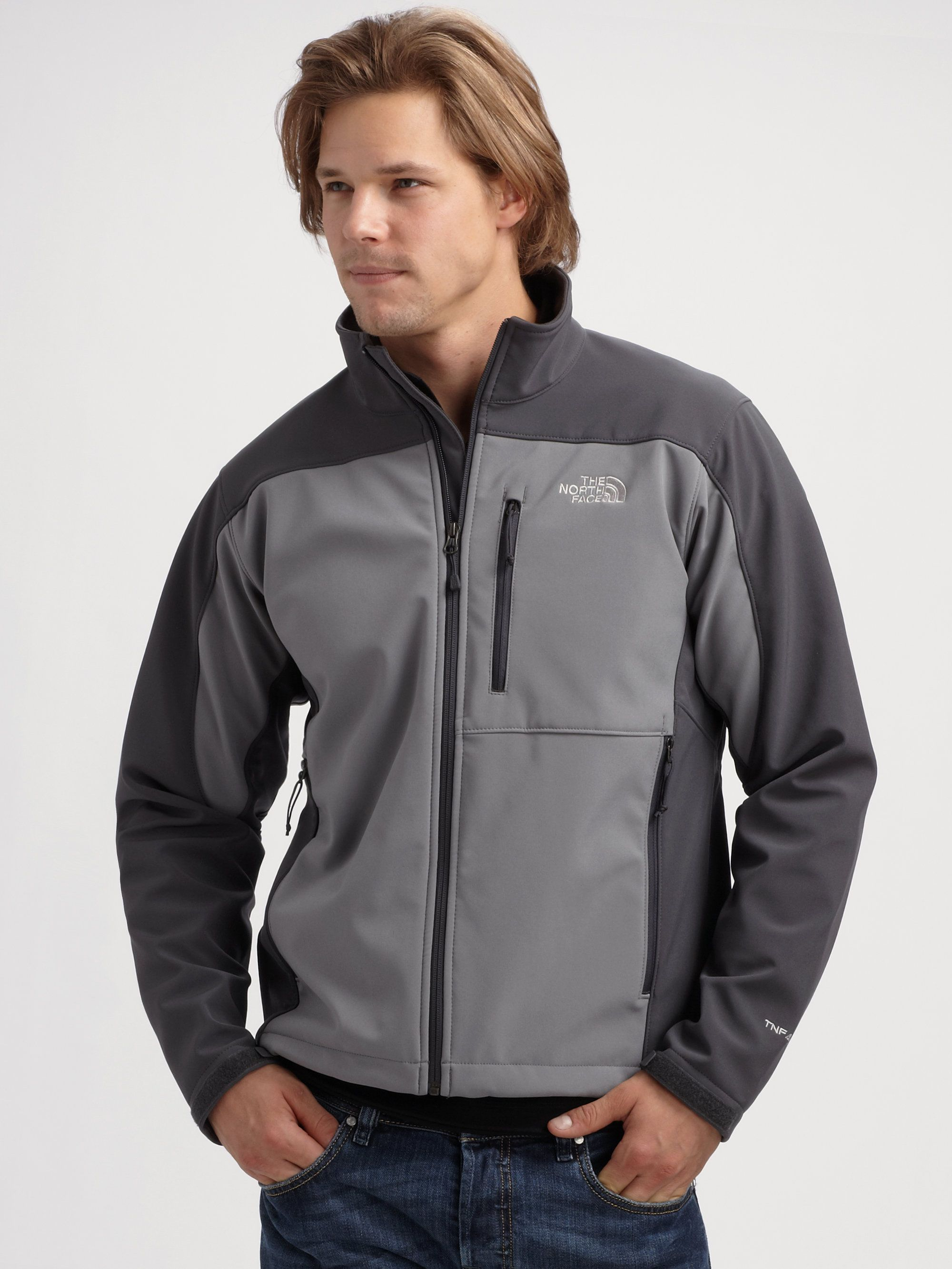 6fa0bf7cd The North Face Apex Bionic Jacket in Gray for Men (zinc grey ...