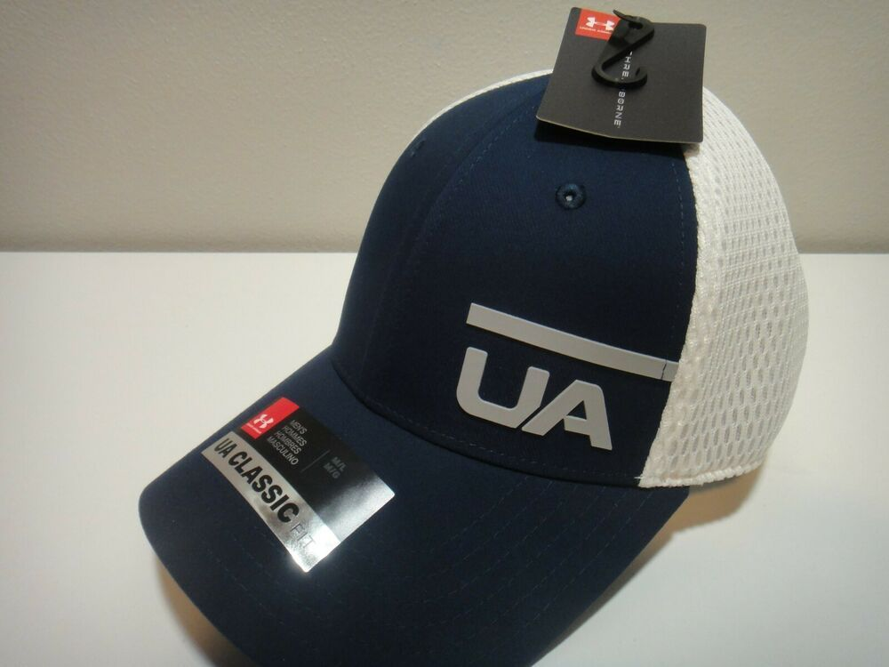 9272b54f Under Armour Mens Threadborne Classic Fit Hat Color Blue & White ...