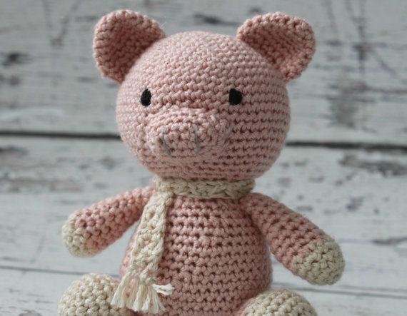 Poppy Pig Hakeln Miniatur Schwein Gefullt Tier Rosa Von Makinitmama Mit Bildern Minischwein Haustier Schweine Tiere